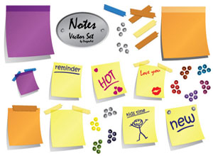 Sticky, Note Vector Pack
