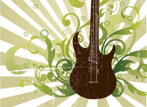 FCool Guitar Vector