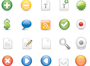 Icons Set Vectors (Adobe Illustrator)