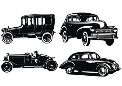 old_car_silhouettes
