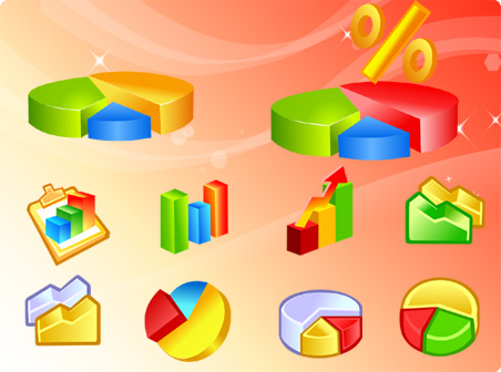 Free Vector Diagram Icons