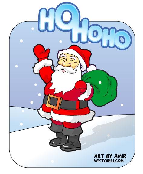 Vectores de Santa Claus gratis para Illustrator