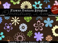 Flower_Vectors_Brushes_by_redheadstock