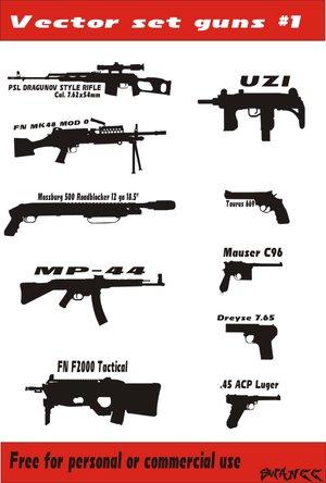 Gun_vector_set_1_by_swaneejuggalo