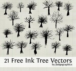 Ink_Tree_Vectors_by_fudgegraphics