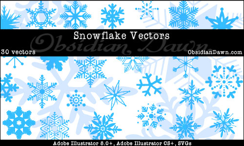 Snowflake_Illustrator_Vectors_by_redheadstock