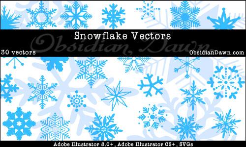 Snowflake_Illustrator_Vectors_by_redheadstock