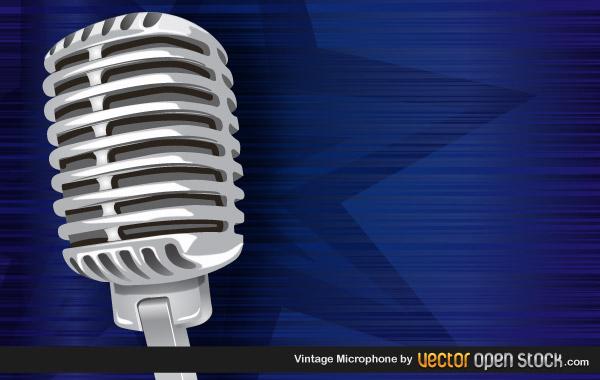 Vintage Microphone | Coolvectors.