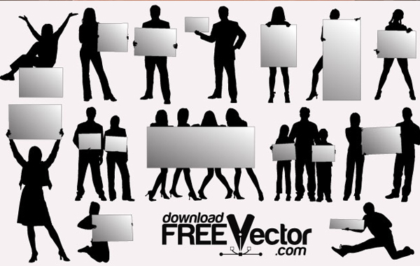 Party People Silhouette Vector Free Vector Silhouettes People With