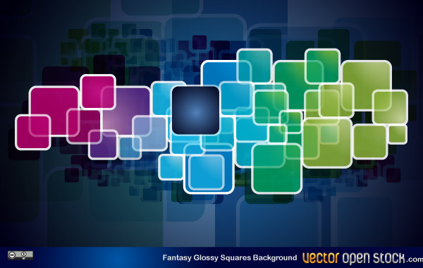 fantasy glossy squares background a modern themed background vector ...