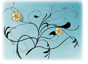 Free Vectors - Swirl & Flower