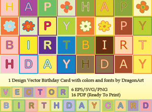 Free Birthday Card Vectors