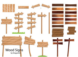 Wood Vector Signs